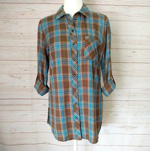 Kut from the Kloth Women's Plaid Shirt Size XS